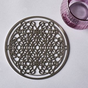 Universal DNA Stainless Steel 160mm small coaster sized plate