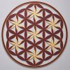 Flower of Life (Floral Pattern) Red With Gold Trim