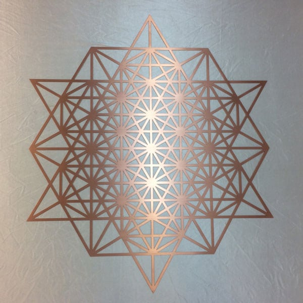 64 Grid Tetrahedron pure copper